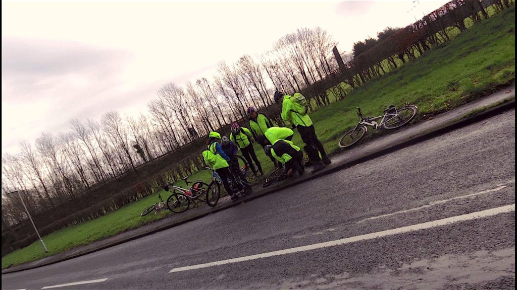 Mystery solved, John B doing a puncture masterclass!