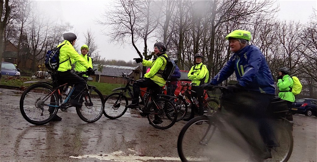 Wet through before we set off!