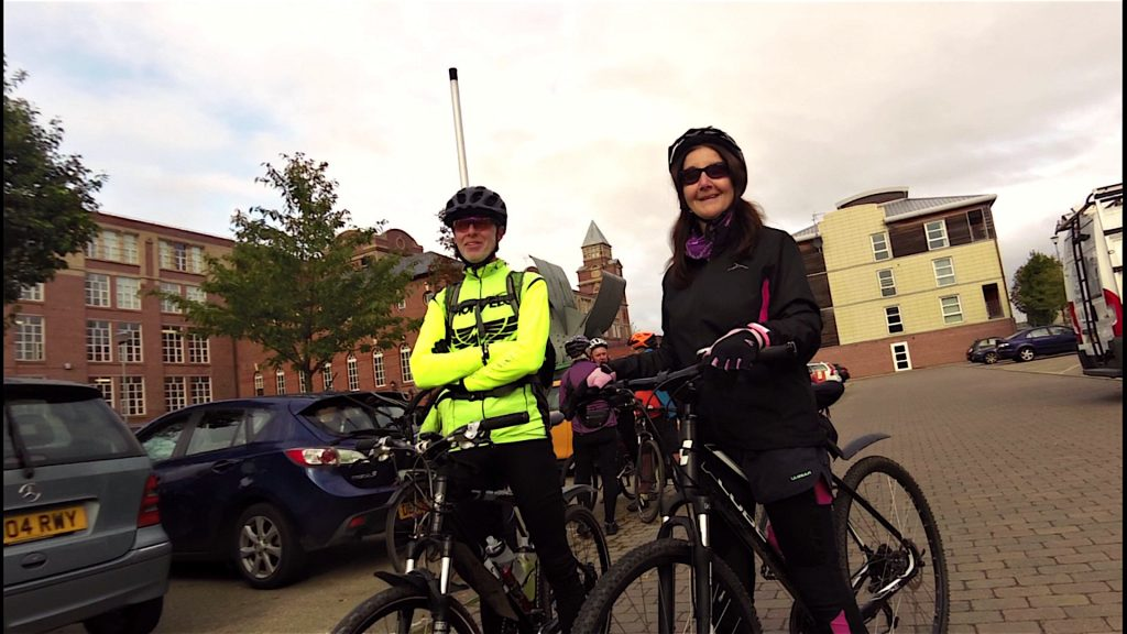 All smiles from Enid at the start, think Phil told her it was a flat ride!