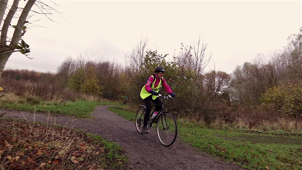 Doreen putting her new steed through it's paces!