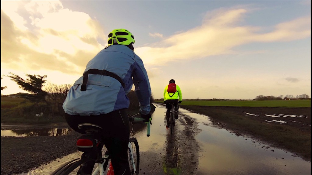 Fancy seeing a puddle on one of our rides! Bet Anthony gave it a wide berth!