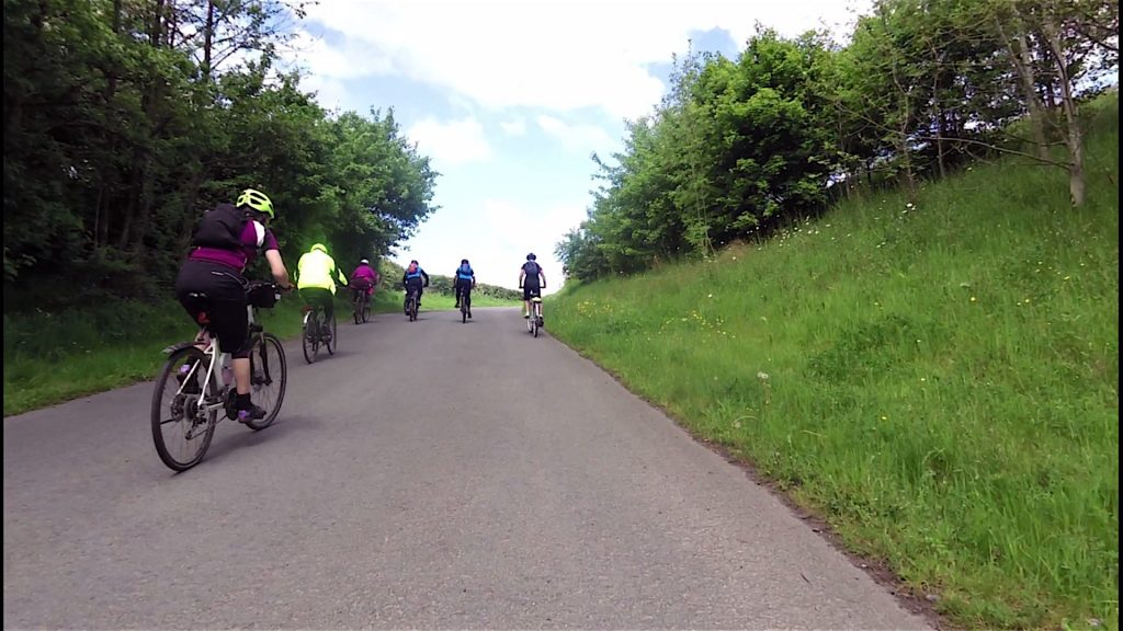 Nice to see everyone cycling up the hill.