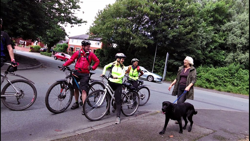 Any chance of borrowing your dog please, we seem to have lost a few cyclists