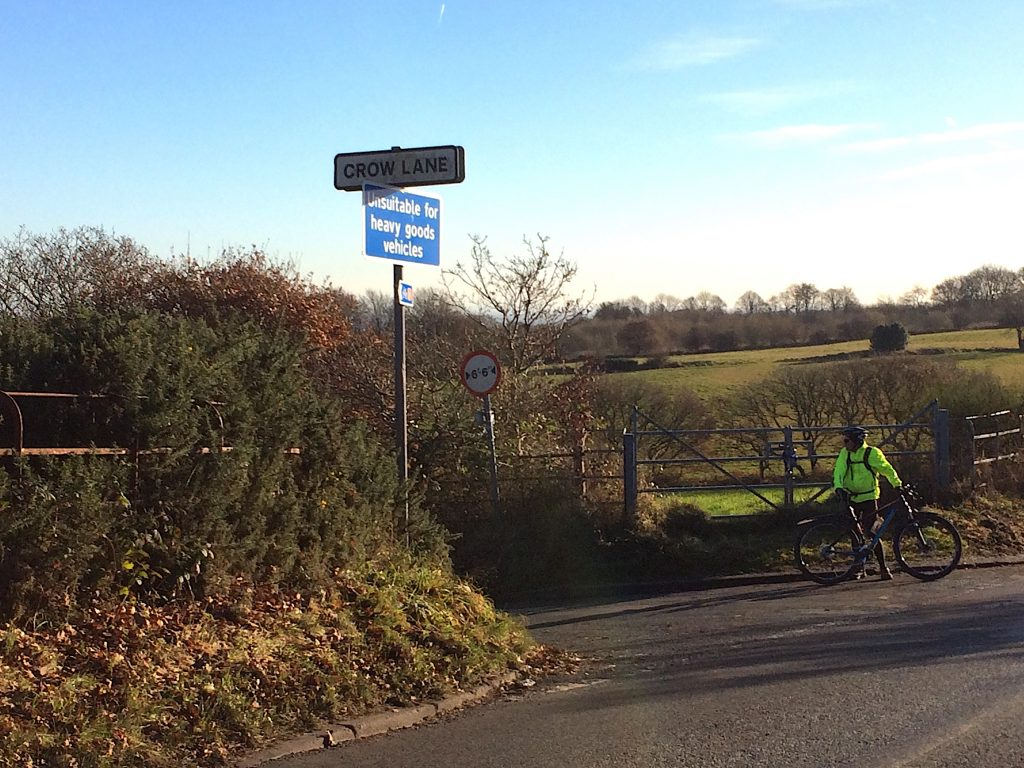 Another decent climb is Crow Lane!